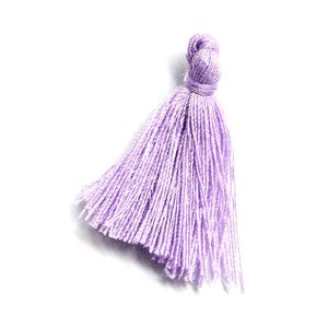 Lilac Polyester Tassels 3cm Pack Of 10 Y13675