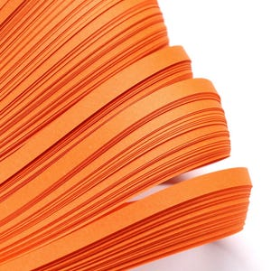 Orange Quilling Paper 53cm x 5mm Pack Of 110+ Strips Y13685
