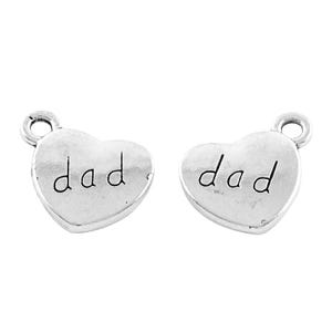 Antique Silver Tibetan Zinc Dad Charms 18mm Pack Of 10 Y13865