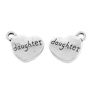 Antique Silver Tibetan Zinc Daughter Charms 18mm Pack Of 10 Y13880