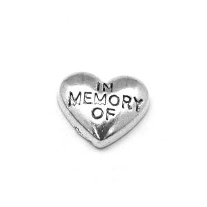 Silver Tibetan Zinc In Memory Of Floating Charms 7mm x 9mm Pack Of 10 Y13935