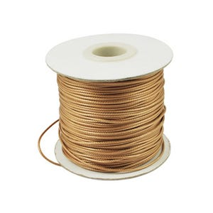 Beige Waxed Polyester String Cord 10M Continuous Length 1.5mm Thick Y14650