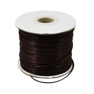 Dark Brown Waxed Polyester String Cord 15M Continuous Length 0.5mm Thick Y14660