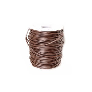 Brown Rubber Hollow Tube Cord 5M Continuous Length 2mm Thick Y14665