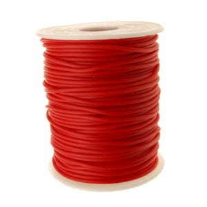 Red Rubber Hollow Tube Cord 5M Continuous Length 2mm Thick Y14690