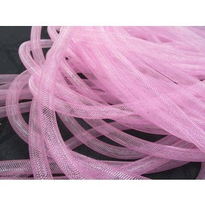 Pale Pink Nylon Polymesh Cord 2M Continuous Length 8mm Thick Y14695
