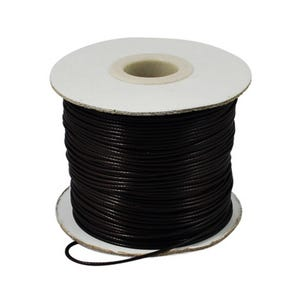 Black Waxed Polyester String Cord 10M Continuous Length 1.5mm Thick Y14715