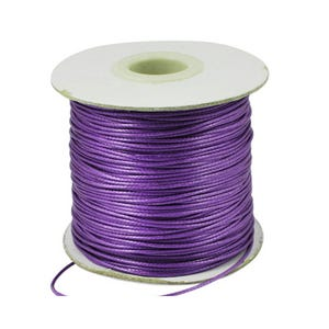 Purple Waxed Polyester String Cord 15M Continuous Length 0.5mm Thick Y14725