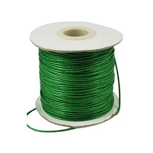 Green Waxed Polyester String Cord 10M Continuous Length 1.5mm Thick Y14745