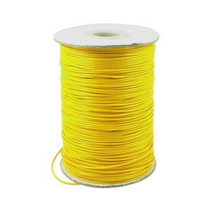 Yellow Waxed Polyester String Cord 10M Continuous Length 1.5mm Thick Y14760