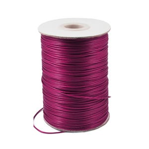 Fuchsia Waxed Polyester String Cord 10M Continuous Length 1.5mm Thick Y14790