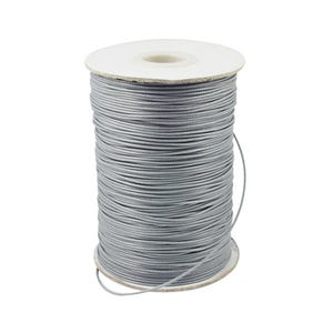 Grey Waxed Polyester String Cord 10M Continuous Length 1.5mm Thick Y14805