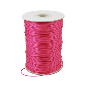 Bright Pink Waxed Polyester String Cord 15M Continuous Length 0.5mm Thick Y14810