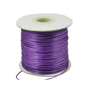 Purple Waxed Polyester String Cord 10M Continuous Length 1.5mm Thick Y14815