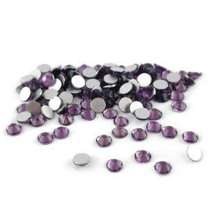 Lilac/Grey Flat Back Non Hot Fix Glass Grade A Rhinestones 3mm Pack Of 100+ Y15165