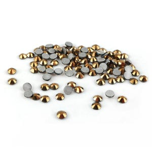 Gold Flat Back Non Hot Fix Glass Grade A Rhinestones 3mm Pack Of 100+ Y15195
