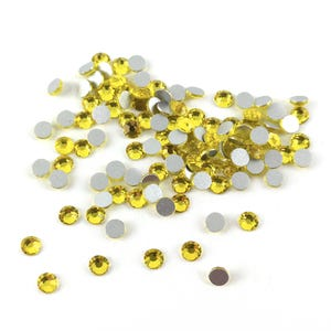 Yellow Flat Back Non Hot Fix Glass Grade A Rhinestones 3mm Pack Of 100+ Y15230