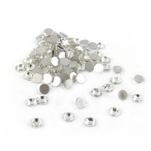 Silver/Clear Flat Back Non Hot Fix Glass Grade A Rhinestones 3mm Pack Of 100+ Y15240