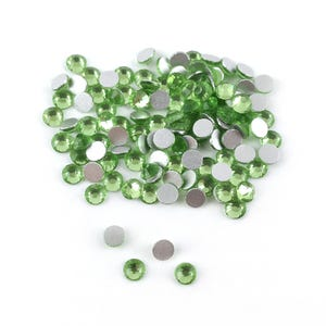 Green Flat Back Non Hot Fix Glass Grade A Rhinestones 3mm Pack Of 100+ Y15275
