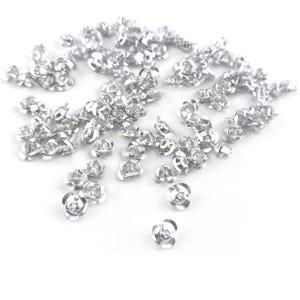 Silver Metallic Aluminium Flower Beads 7mm x 4mm Pack Of 100+ Y15425