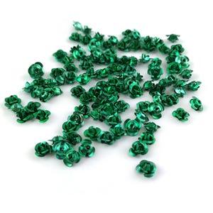Green Metallic Aluminium Flower Beads 7mm x 4mm Pack Of 100+ Y15625