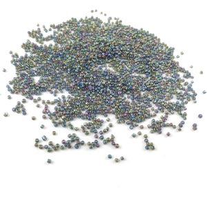 Grey AB Glass Seed Beads 3mm-4mm Pack Of 2000+ Y15830