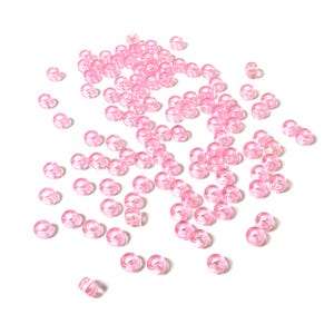 Pink Acrylic Pony Large Hole Beads 6mm x 9mm Pack Of 100+ Y16025