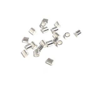 Bright 925 Sterling Silver 1.5mm Tube Crimp Beads Pack Of 20 Y16040
