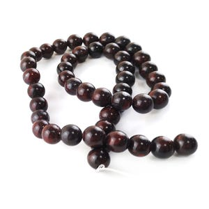 Red/Brown Brecciated Jasper Grade A Plain Round Beads 8mm Strand Of 45+ Pieces Y16060