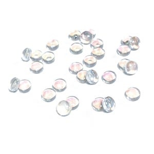 Clear AB Glass 6mm Calibrated Dome Cabochons Pack Of 30 Y16065