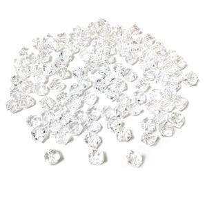 Clear Acrylic Faceted Cube Beads 8mm Pack Of 100+ Y16080