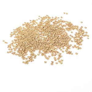 Gold Electroplated Glass Seed Beads 2-3mm Pack Of 800+ Y16090