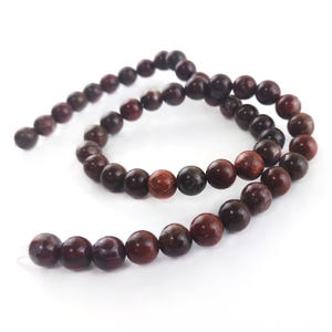 Red Brecciated Jasper Grade A Plain Round Beads 8mm Strand Of 45+ Pieces Y16185