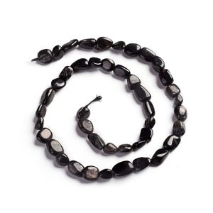 Black Hypersthene Grade A Smooth Nugget Beads 6x7mm-8x12mm Strand Of 45+ Pieces Y16265