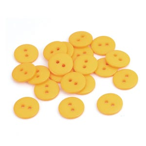 Dark Yellow Resin 15mm 2-Hole Round Buttons Pack Of 30 Y16290