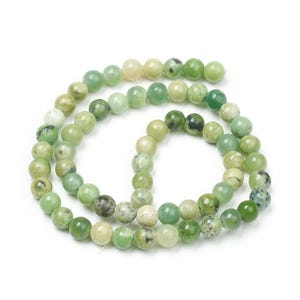 Green Chrysoprase Grade A Plain Round Beads 6mm Strand Of 60+ Pieces Y16310