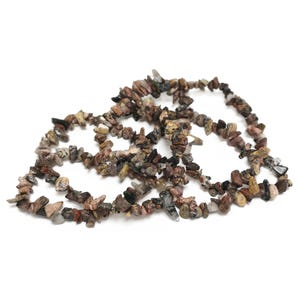 Brown Leopardskin Jasper Grade A Chip Beads Approx 3-8mm Long Strand Of 300+ Pieces Y16400