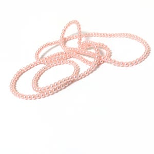 Pink Pearlised Glass Plain Round Beads 3mm-4mm Long Strand Of 200+ Pieces Y16415