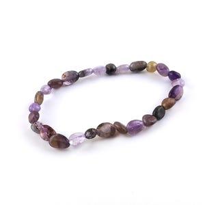 Purple Auralite One Size Nugget Stretchy Bracelet  Y16425