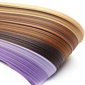 Brown/Purple Quilling Paper 53cm x 5mm Pack Of 110+ Strips Y16515