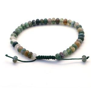Multicolour Fancy Jasper 8-11 Inch Plain Rondelle Adjustable Bracelet  Y16735