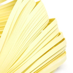 Yellow Quilling Paper 53cm x 5mm Pack Of 110+ Strips Y16770