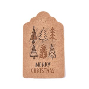 Brown Card Rectangle Gift Tags 3cm x 5cm Pack Of 50+ Y16850