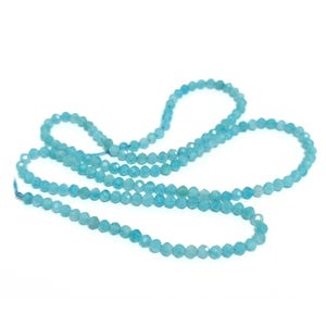 Turquoise Amazonite Grade A Faceted Round Beads 2mm Strand Of 160+ Pieces Y17025