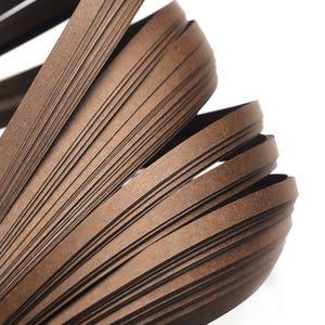 Dark Brown Quilling Paper 53cm x 5mm Pack Of 110+ Strips Y17130