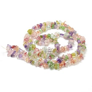 Mixed-Colour Cracked Glass Chips Beads Approx 5-13mm Strand Of 240+ Pieces Y17395