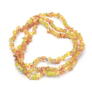 Yellow Millefiori Glass Chips Beads Approx 3-8mm Long Strand Of 150+ Pieces Y17410