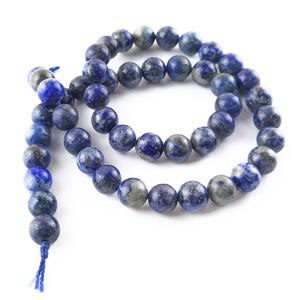 Blue Denim Lapis Lazuli Grade A Plain Round Beads 8mm Strand Of 45+ Pieces Y17460