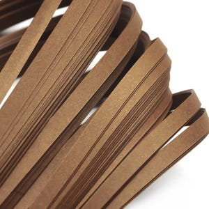 Brown Quilling Paper 53cm x 5mm Pack Of 110+ Strips Y17475
