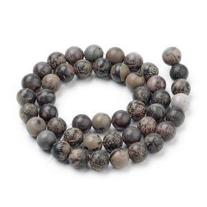 Brown/Grey Chohua Jasper Grade A Plain Round Beads 8mm Strand Of 45+ Pieces Y17535